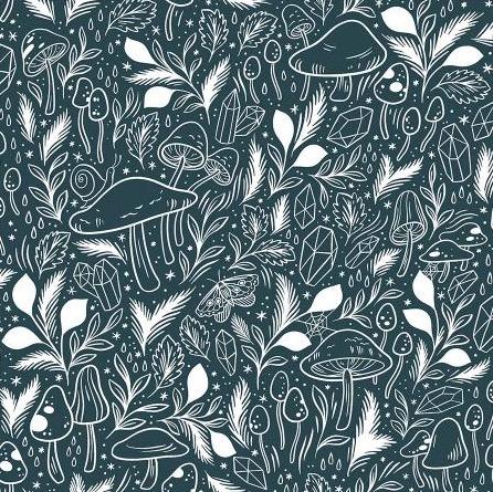 Cotton + Steel Earth Magic by Cotton + Steel Mystical Mushroom Rainforest