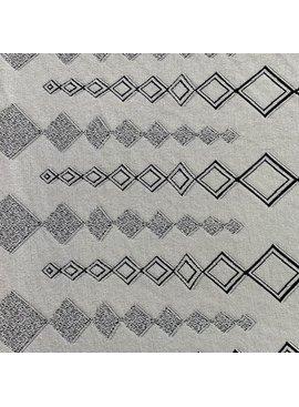 Elliot Berman Diamond Jacquard Italian Knit Ivory