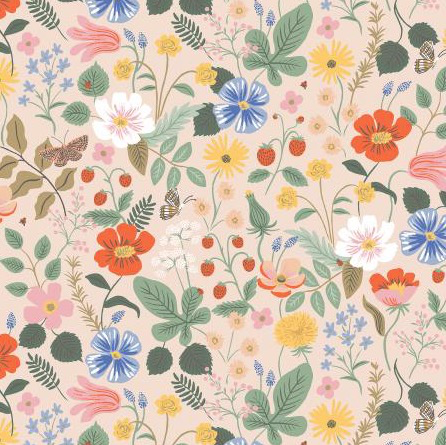 Rifle Paper Co Strawberry Fields by Rifle Paper Co. Blush