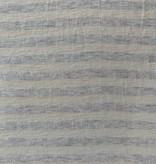 S. Rimmon & Co. Cream / Grey Stripe Cotton Lycra Knit