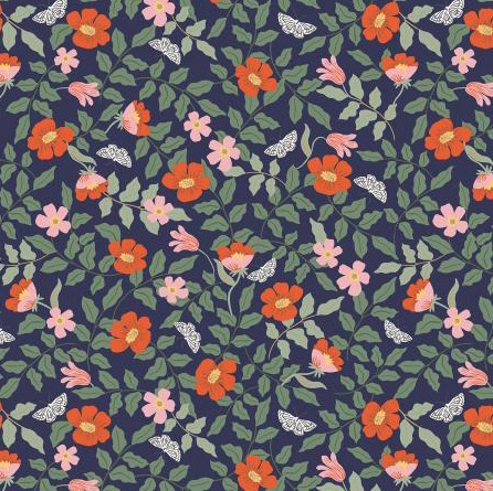 Rifle Paper Co Strawberry Fields by Rifle Paper Co. Primrose Navy