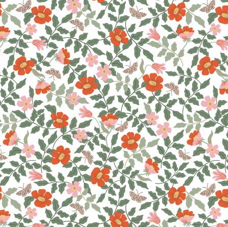 Rifle Paper Co Strawberry Fields by Rifle Paper Co. Primrose Ivory