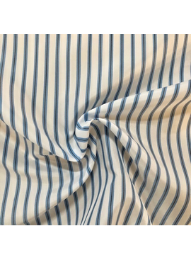 Blue / White Striped Acetate Lining