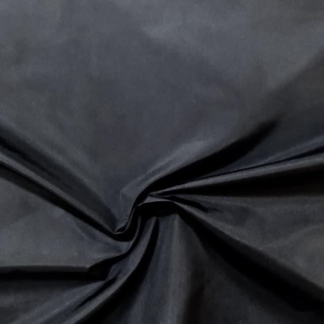 Black Nylon Taffeta Windbreaker