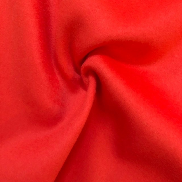 Michael Levine Cashmere Wool Coating Tangerine