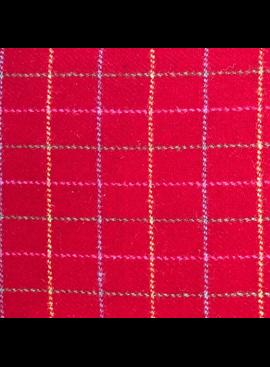 Fabric Mart Scotish Wool Tartan Red / Multi Grid