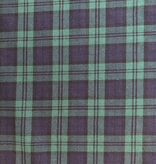Stylecrest Fabrics Highland Plaid Wool Shirting Navy