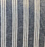 Elliot Berman Italian Linen Blue and White Stripe