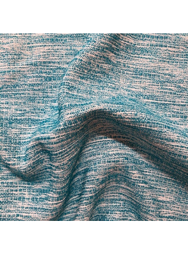 Fabric Mart Turquoise / Off-White Tweed Woven