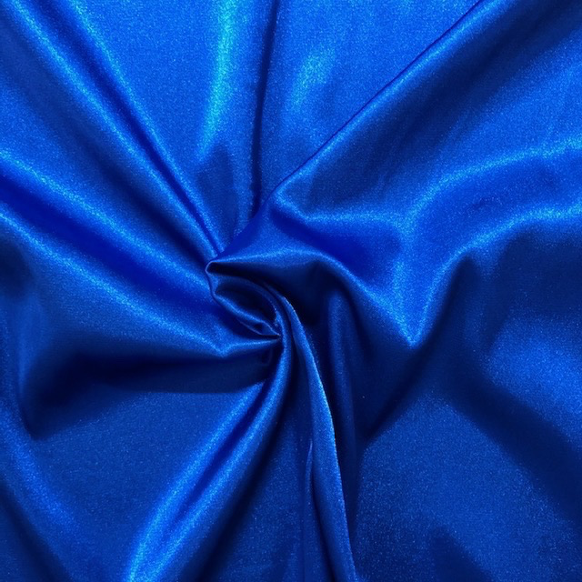 S. Rimmon & Co. Stretch Satin Royal Blue Woven