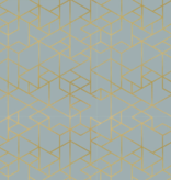 Birch Fabrics Geogami by Jay-Cyn Geo Path Mineral Metallic Gold Jersey