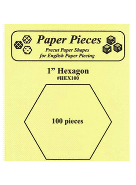 "Paper Pieces Paper Pieces 1"" Hexagon 100 pc"