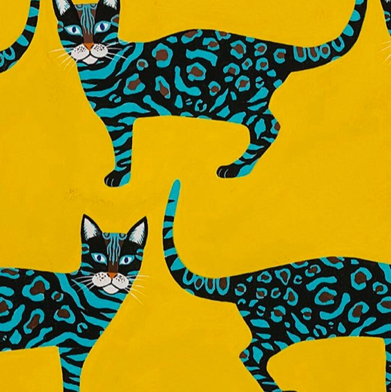 Alexander Henry Little Kenyan Cat Gold by Alexander Henry