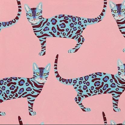 Alexander Henry Little Kenyan Cat Pink by Alexander Henry
