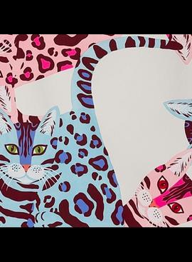Alexander Henry Kenyan Cat Pink by Alexander Henry