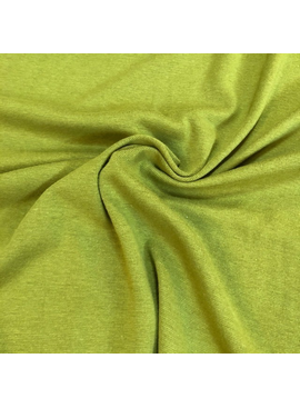 KenDor Bamboo Cotton Stretch 1X1 Rib Knit Chartruese