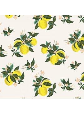 Primavera by Rifle Paper Company Citrus Blossom Metallic Lemon