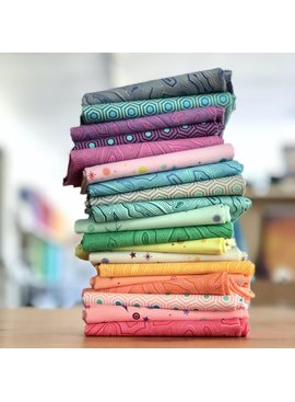 Freespirit Tula's True Colors by Tula Pink Fat Quarter Bundle 19pc