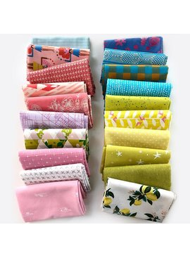 Modern Domestic Modern Domestic's 20 Piece Fat Quarter Bundle - Pink,  Aqua & Citrus