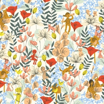 Windham Fabrics Playground by Dylan Mierzwinski In the Flowers Multi