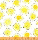 Windham Fabrics Rain or Shine by Marcia Carluccio White Suns