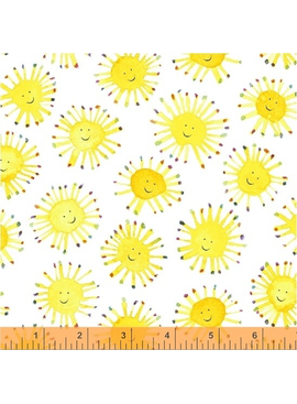 Windham Fabrics Rain or Shine by Marcia Carluccio White Suns