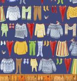 Windham Fabrics Winter Gnomes Blue Laundry