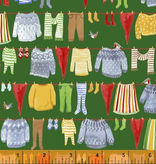 Windham Fabrics Winter Gnomes Green Laundry