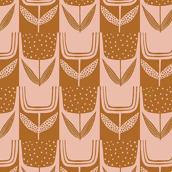 Andover Perennial by Sarah Golden Patchwork Tulips Brick