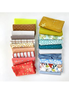 Modern Domestic Modern Domestic's 20 Piece Fat Quarter Bundle - Tomato & Sky
