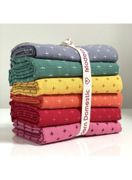 Modern Domestic Diamond Textile Fat Quarter Bundle Six-Piece Color DAY
