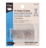 Dritz Hook & Eyes Nickel Size 1
