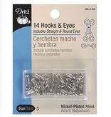 Dritz Hook & Eyes Nickel Size 3