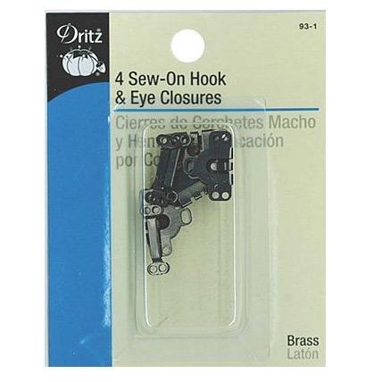 Dritz Hook & Eye Closures Black