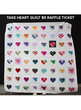 Modern Domestic $5 Raffle Ticket – Take Heart Quilt – Dr MLK Jr. Family Stabilization Fund