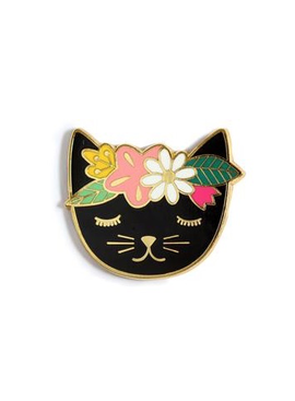 Kiriki Press Kiriki Press Magnetic Needle Minder Floral Cat