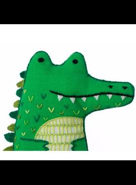 Kiriki Press Kiriki Press Embroidered Doll Kit Alligator