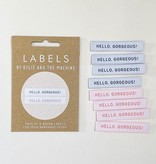 """Kylie and the Machine Kylie and the Machine Labels Sewing Tags """"Hello Gorgeous"""""""