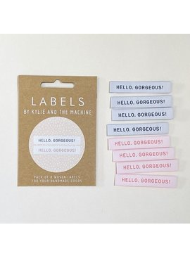 "Kylie and the Machine Kylie and the Machine Labels Sewing Tags ""Hello Gorgeous"""
