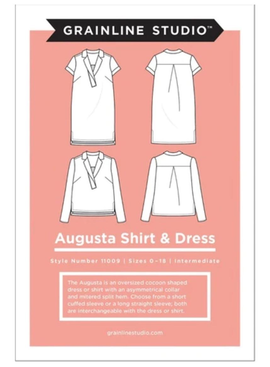 Grainline Patterns Augusta Shirt and Tunic Pattern by Grainline Studio - Sizes 0-18