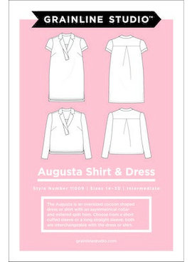 Grainline Patterns Augusta Shirt and Tunic Pattern by Grainline Studio - Sizes 14-30