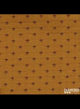 Diamond Textiles Manchester Mustard Grape Pluses