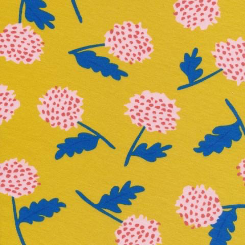 Cloud 9 Cloud 9 Organic Cotton Knit Yellow Thistles