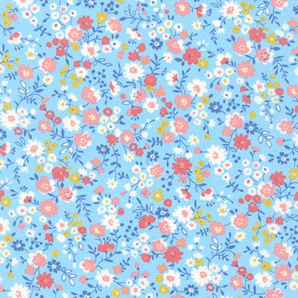 Robert Kaufman Sevenberry Petite Garden Sky
