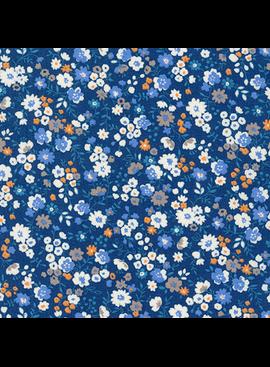 Robert Kaufman Sevenberry Petite Garden Blue