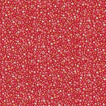 Robert Kaufman Sevenberry Petite Garden Red