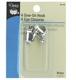 Dritz Hook & Eye Closures Nickel