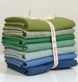 National Nonwovens Wool Felt Fat Quarter Bundle  FQ (7 Piece) - Cool