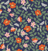 Rifle Paper Co Strawberry Fields by Rifle Paper Co. Primrose Navy Rayon