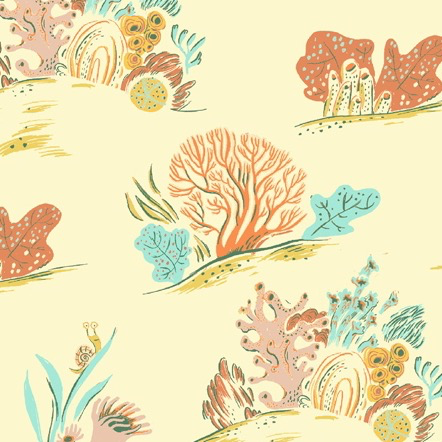 Windham Fabrics Malibu by Heather Ross Coral Coral